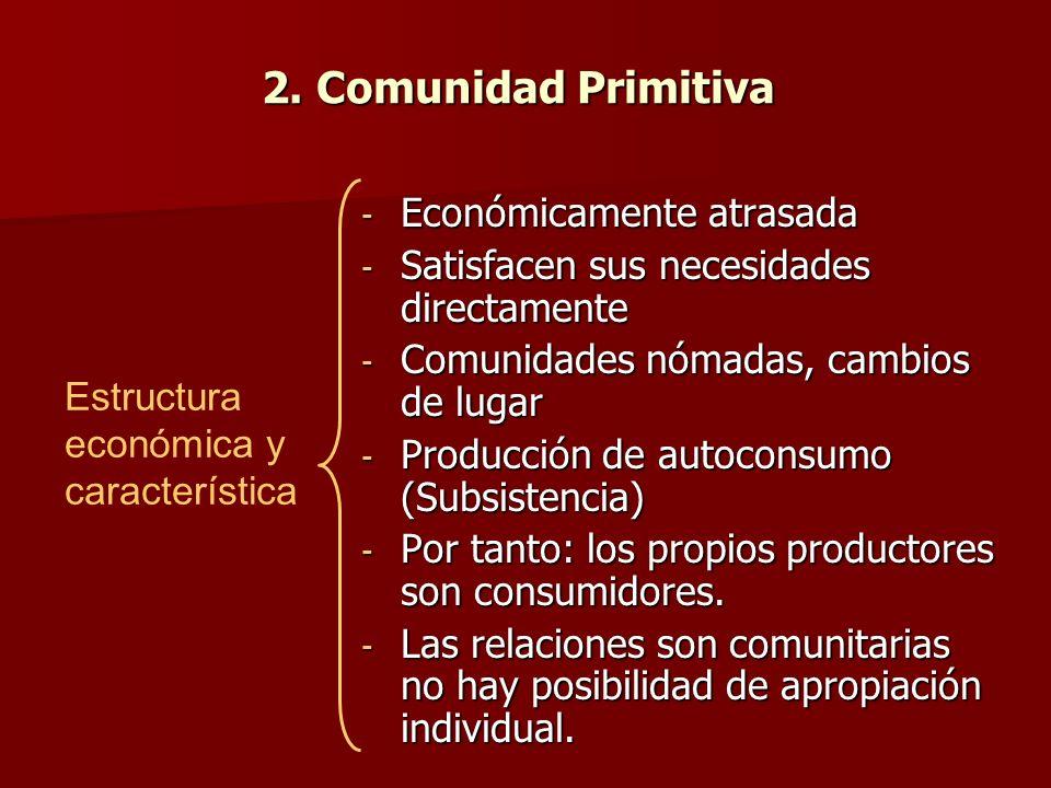 2. Comunidad Primitiva Económicamente atrasada