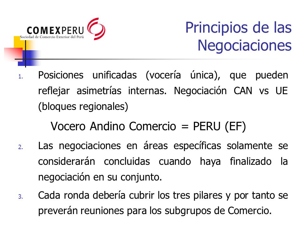 Principios de las Negociaciones