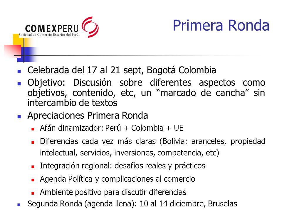Primera Ronda Celebrada del 17 al 21 sept, Bogotá Colombia