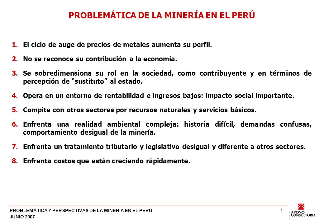 EL CONTEXTO: AUGE EN LOS PRECIOS DE LOS METALES.