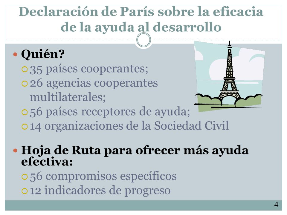 Declaración de París sobre la eficacia de la ayuda al desarrollo