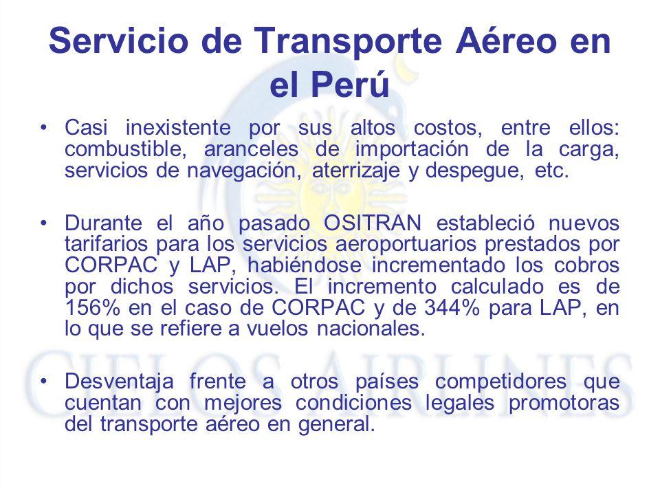 Servicio de Transporte Aéreo en el Perú