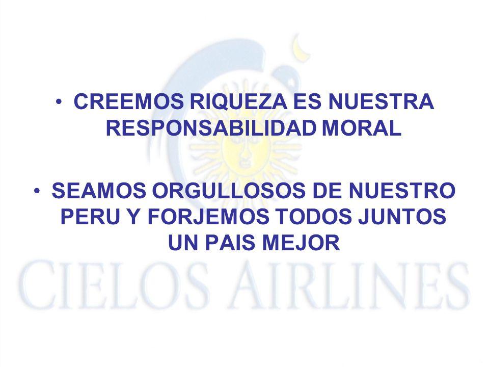 CREEMOS RIQUEZA ES NUESTRA RESPONSABILIDAD MORAL