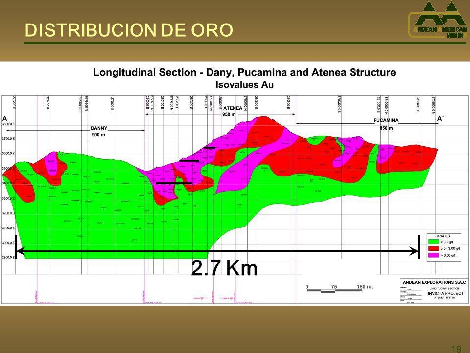 DISTRIBUCION DE ORO 2.7 Km 19