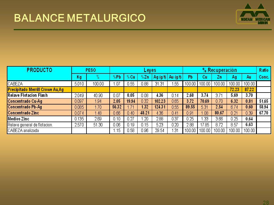 BALANCE METALURGICO 28