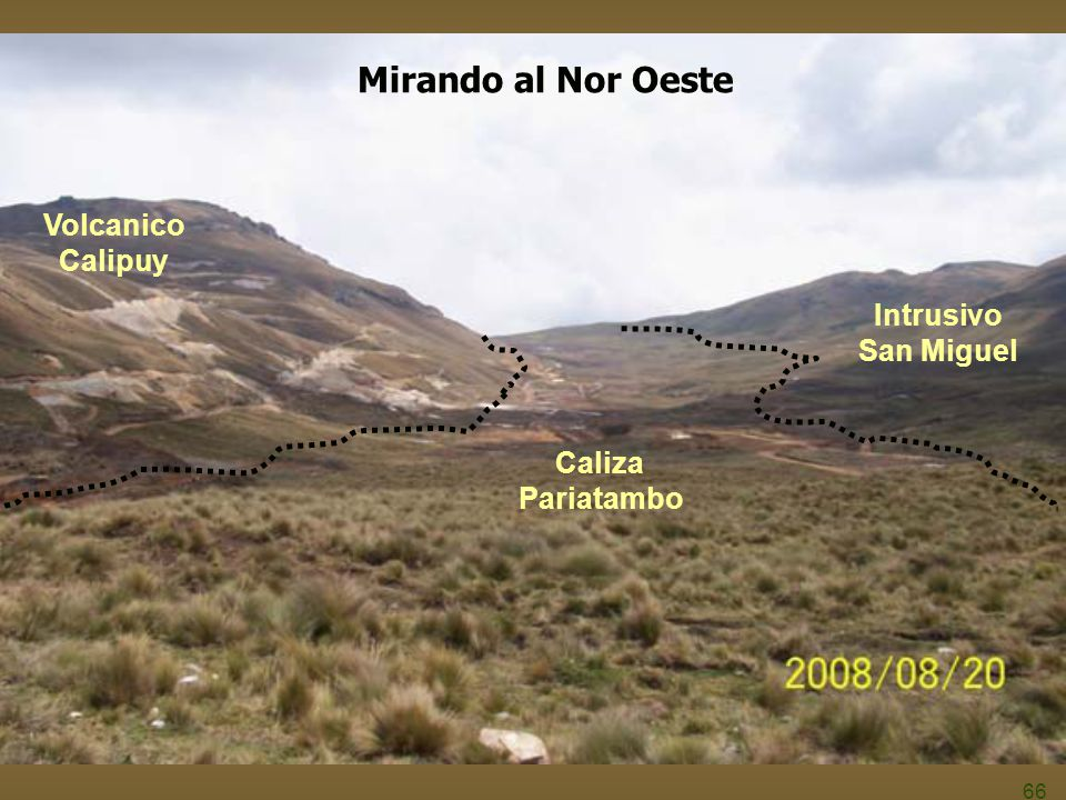 Mirando al Nor Oeste Volcanico Calipuy Intrusivo San Miguel Caliza