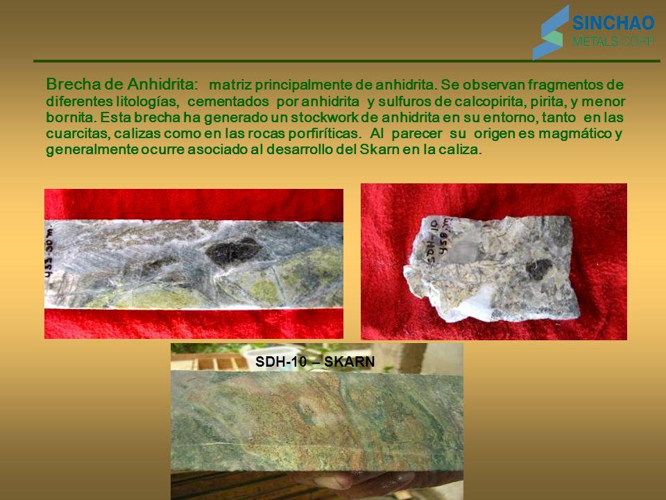 Brecha de Anhidrita: matriz principalmente de anhidrita
