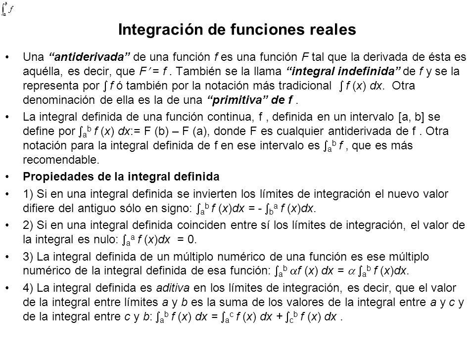 Integración de funciones reales