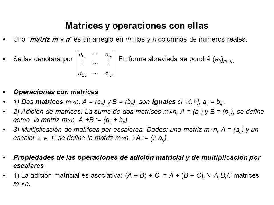 Matrices y operaciones con ellas