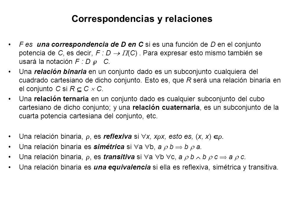Correspondencias y relaciones
