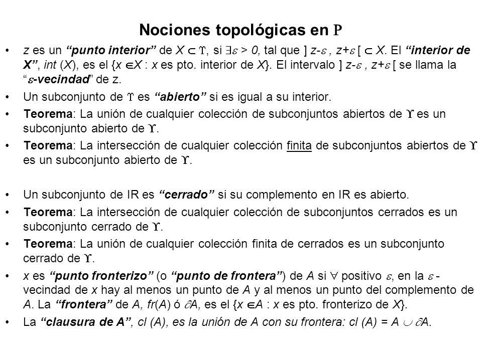 Nociones topológicas en 