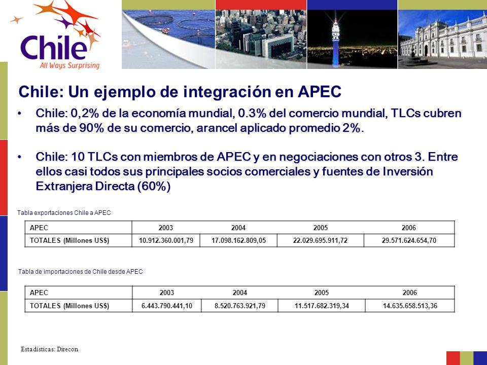 Chile: Un ejemplo de integración en APEC