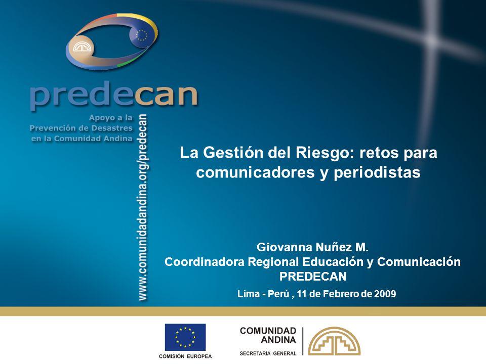 La Gestión del Riesgo: retos para comunicadores y periodistas