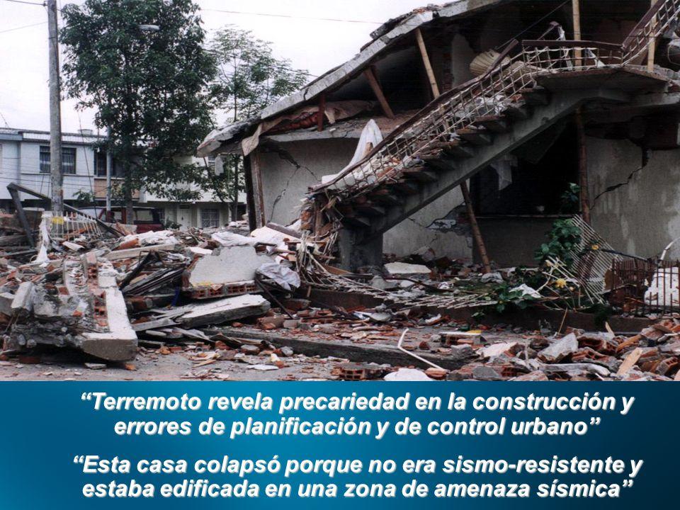 Terremoto revela precariedad en la construcción y errores de planificación y de control urbano