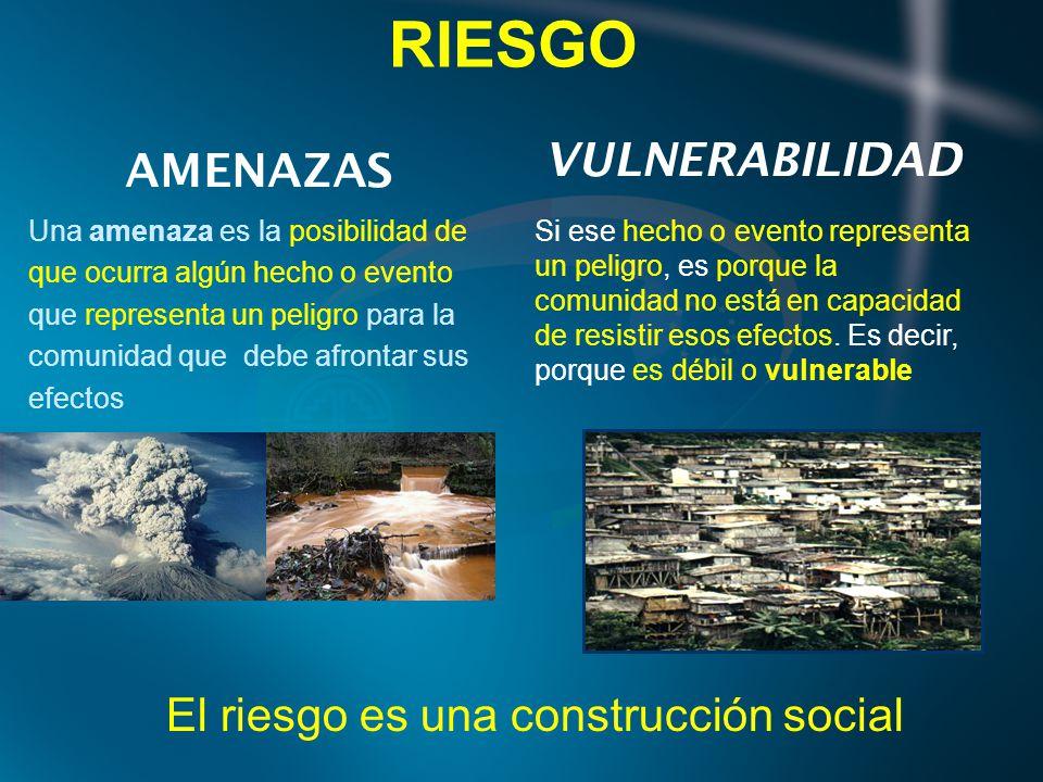 El riesgo es una construcción social