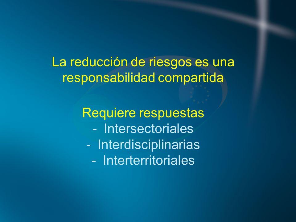 La reducción de riesgos es una responsabilidad compartida