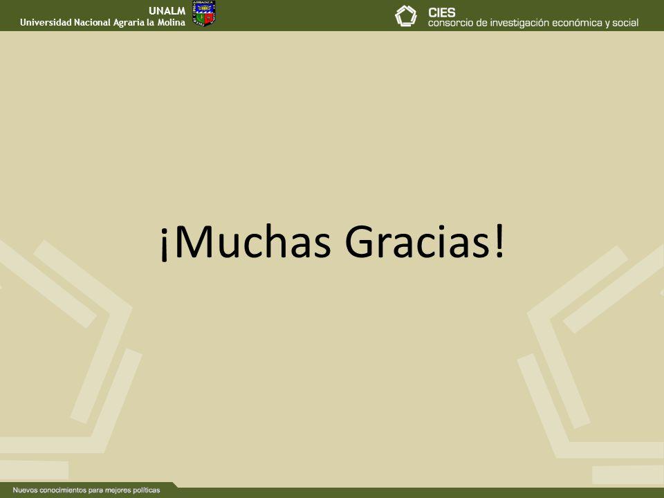UNALM Universidad Nacional Agraria la Molina ¡Muchas Gracias!