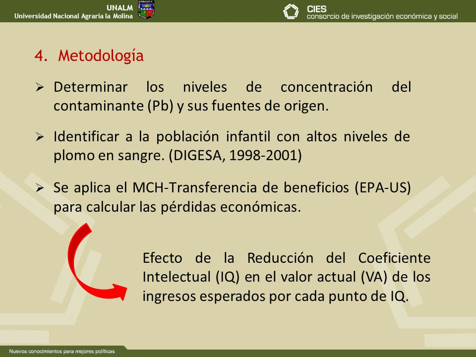UNALM Universidad Nacional Agraria la Molina. 4. Metodología.