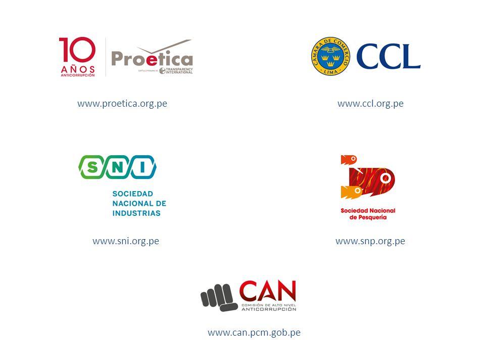 www.proetica.org.pe www.ccl.org.pe www.sni.org.pe www.snp.org.pe www.can.pcm.gob.pe