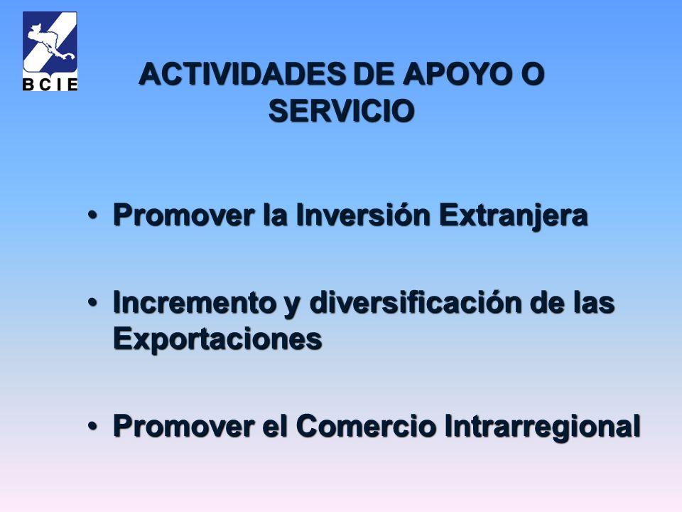 ACTIVIDADES DE APOYO O SERVICIO