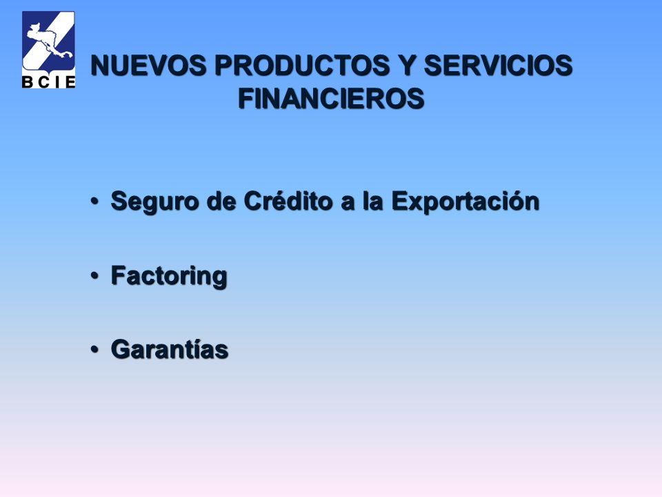 NUEVOS PRODUCTOS Y SERVICIOS FINANCIEROS