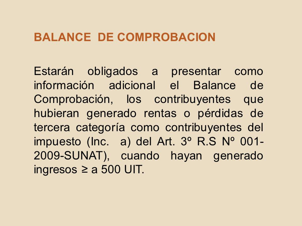 BALANCE DE COMPROBACION