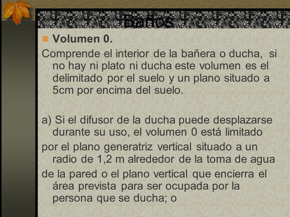 Baños Volumen 0.