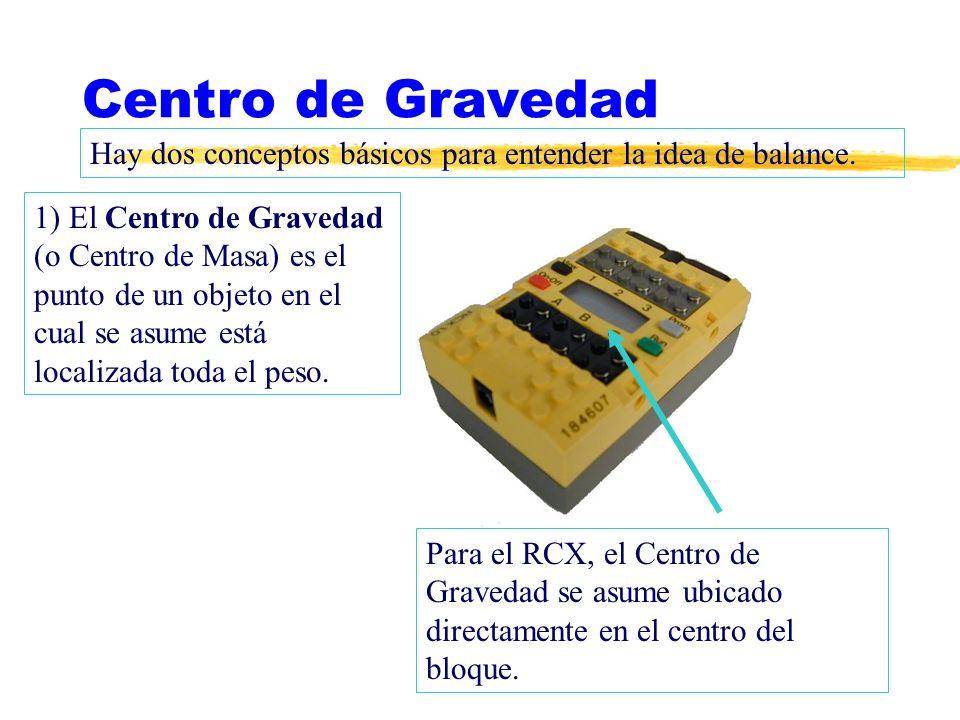 Centro de Gravedad Hay dos conceptos básicos para entender la idea de balance.