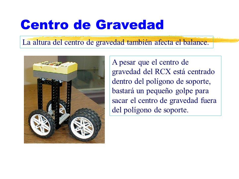 Centro de Gravedad La altura del centro de gravedad también afecta el balance.