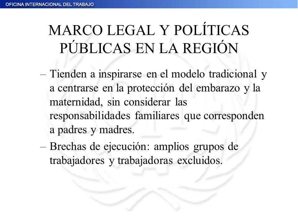 MARCO LEGAL Y POLÍTICAS PÚBLICAS EN LA REGIÓN