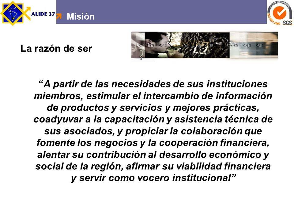 Misión La razón de ser.