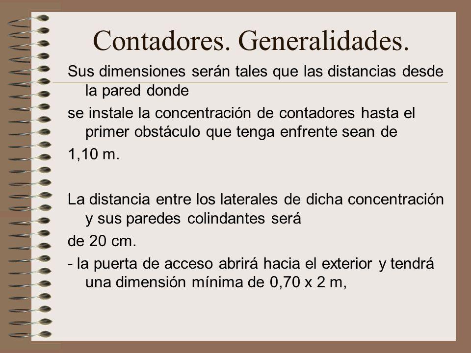 Contadores. Generalidades.