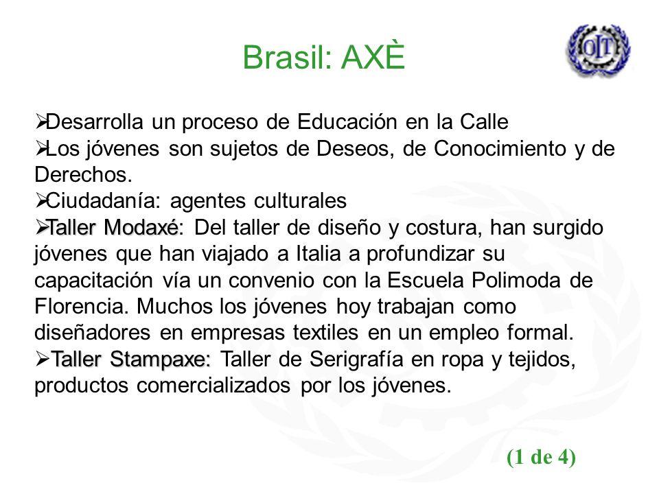 Brasil: AXÈ Desarrolla un proceso de Educación en la Calle