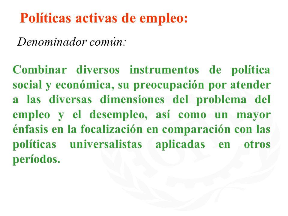 Políticas activas de empleo: