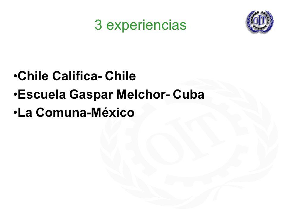 3 experiencias Chile Califica- Chile Escuela Gaspar Melchor- Cuba