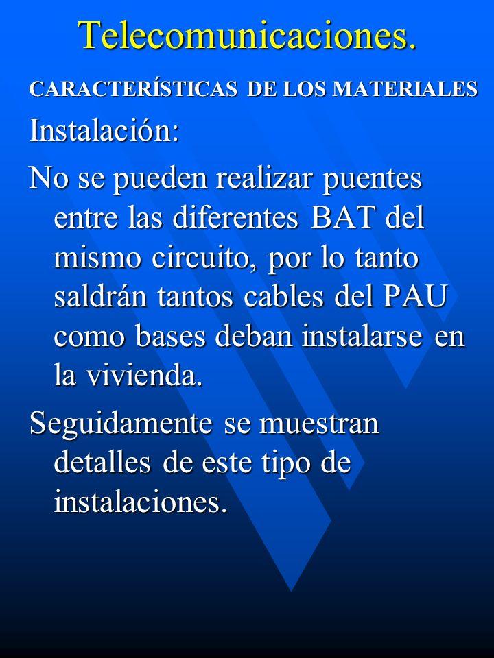 Telecomunicaciones. Instalación: