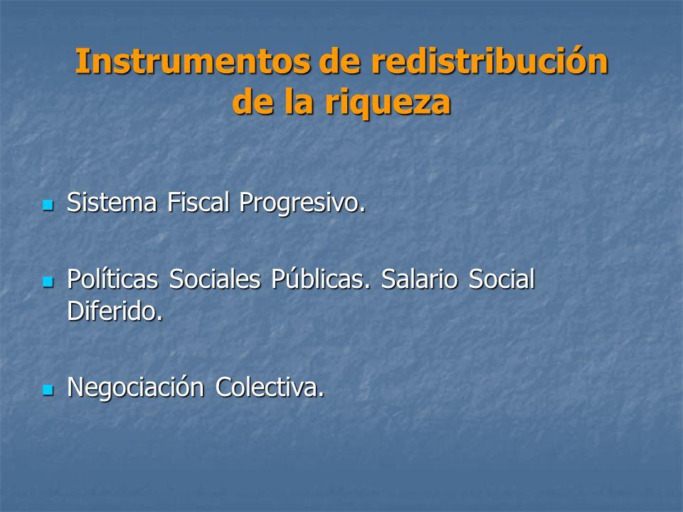 Instrumentos de redistribución de la riqueza