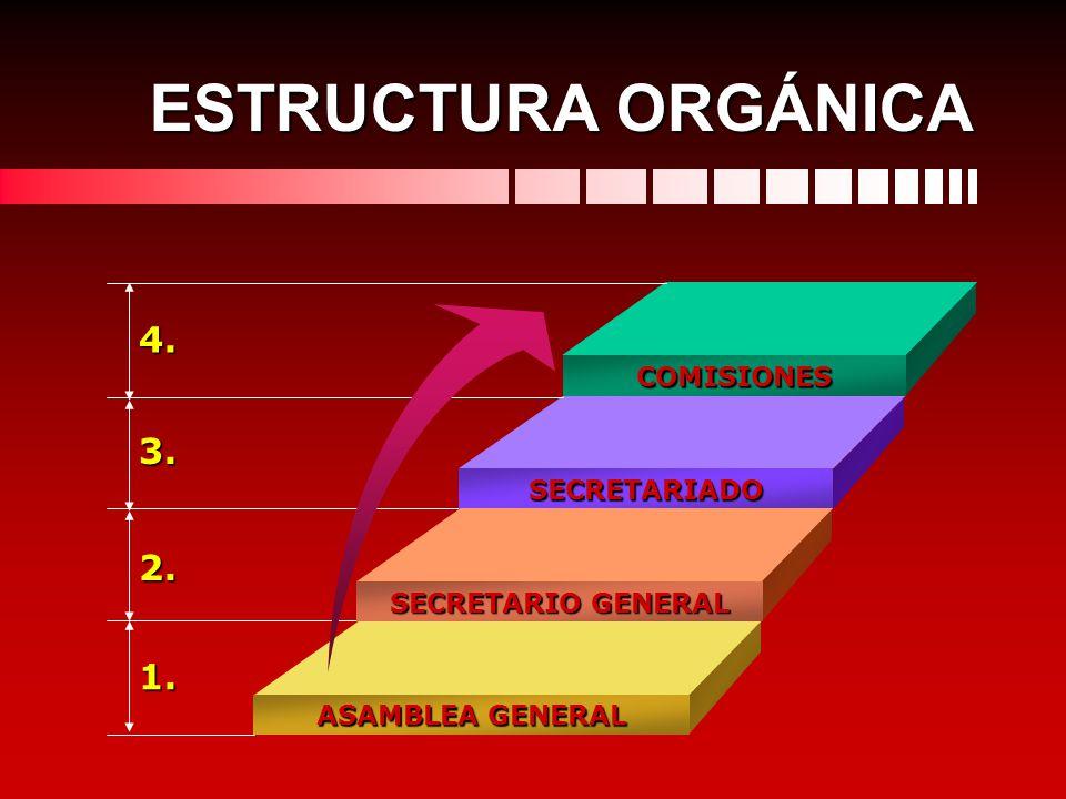 ESTRUCTURA ORGÁNICA 4. 3. 2. 1. COMISIONES SECRETARIADO