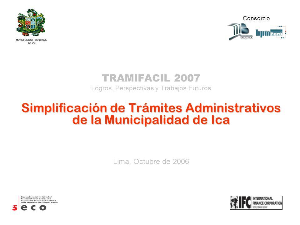 Simplificación de Trámites Administrativos de la Municipalidad de Ica