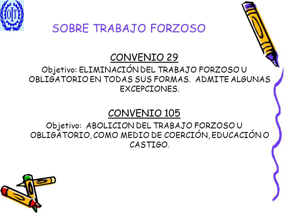 SOBRE TRABAJO FORZOSO CONVENIO 29 CONVENIO 105