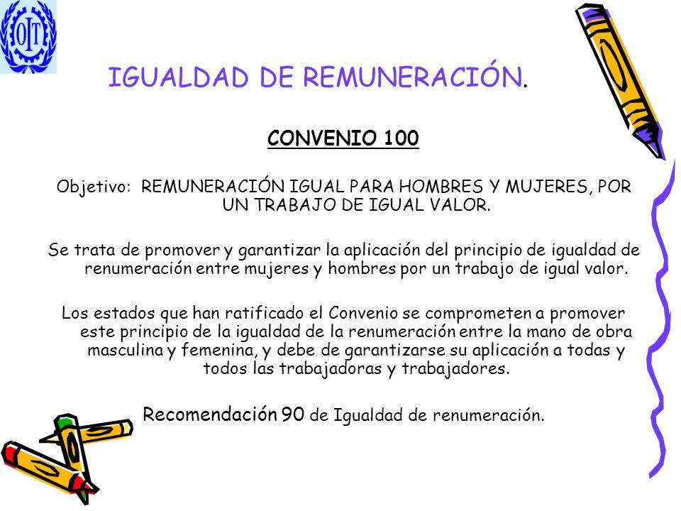 IGUALDAD DE REMUNERACIÓN.