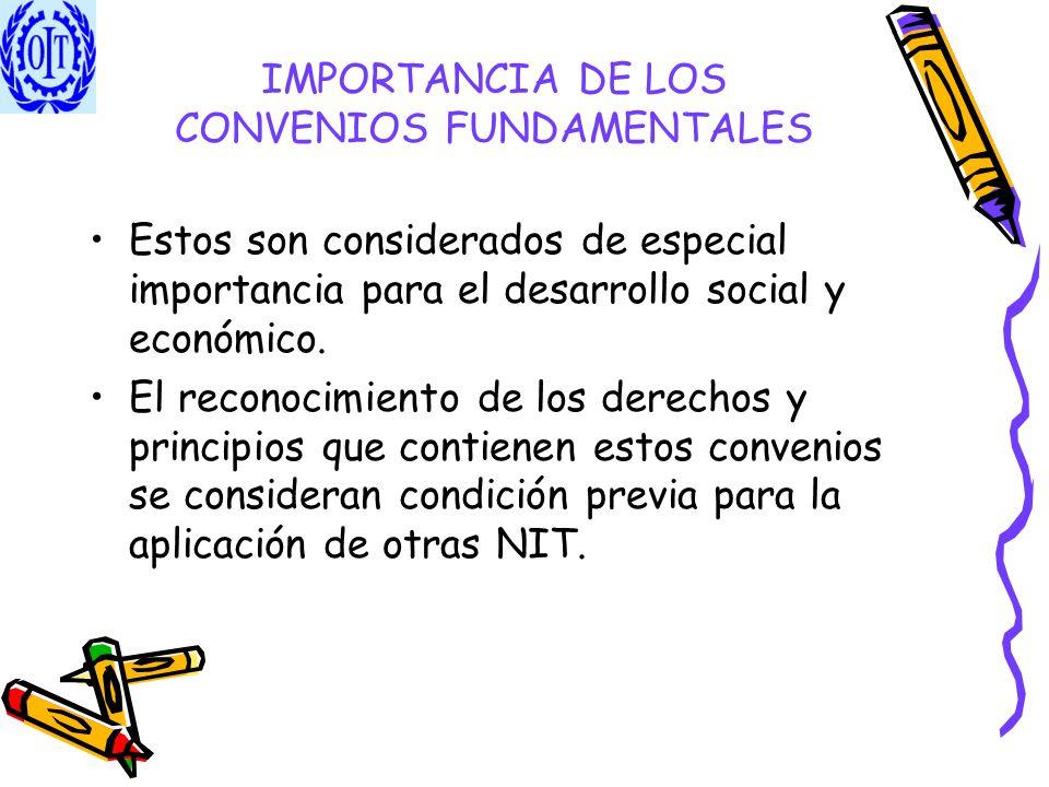 IMPORTANCIA DE LOS CONVENIOS FUNDAMENTALES