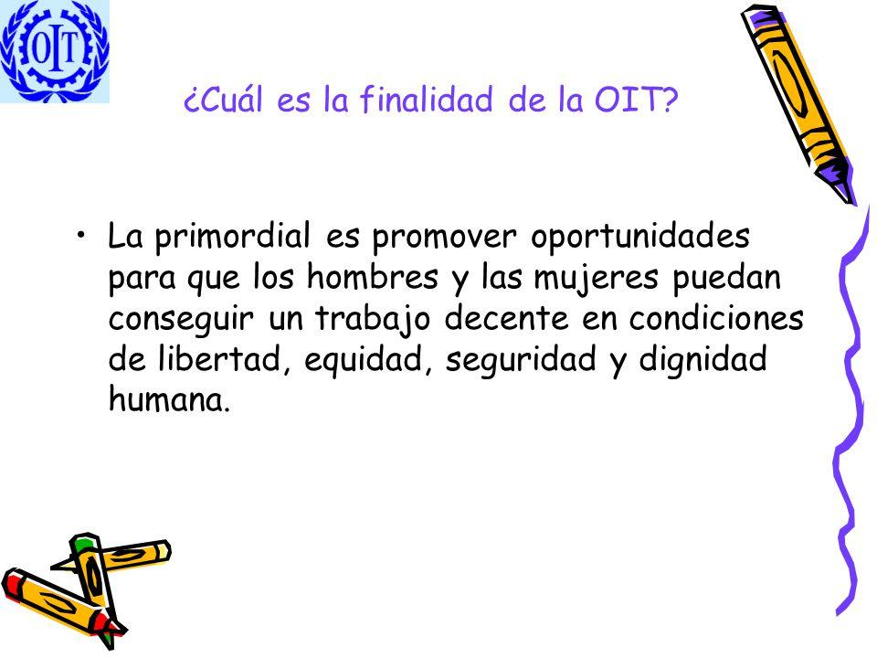 ¿Cuál es la finalidad de la OIT