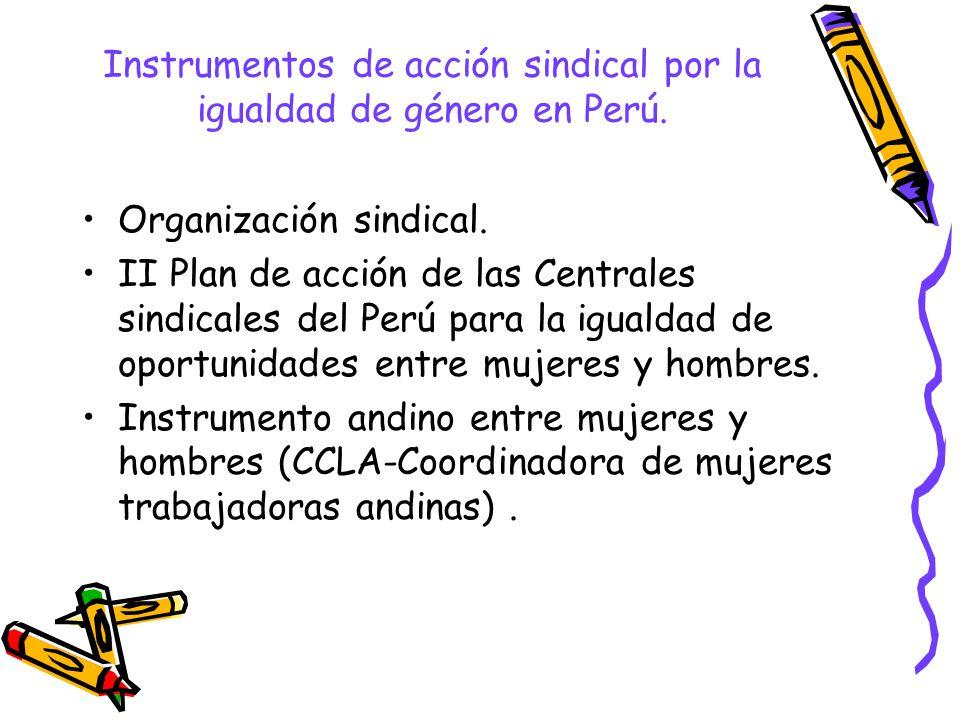 Instrumentos de acción sindical por la igualdad de género en Perú.