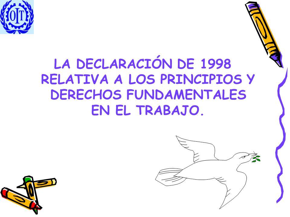 LA DECLARACIÓN DE 1998 RELATIVA A LOS PRINCIPIOS Y DERECHOS FUNDAMENTALES EN EL TRABAJO.