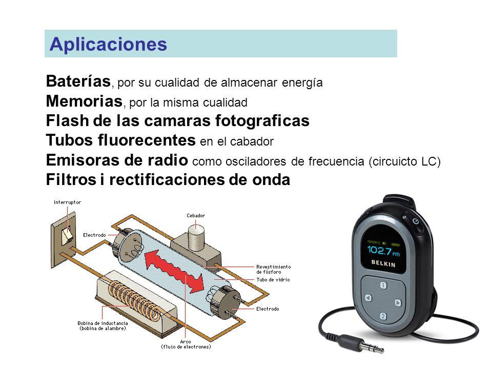 Aplicaciones Baterías, por su cualidad de almacenar energía