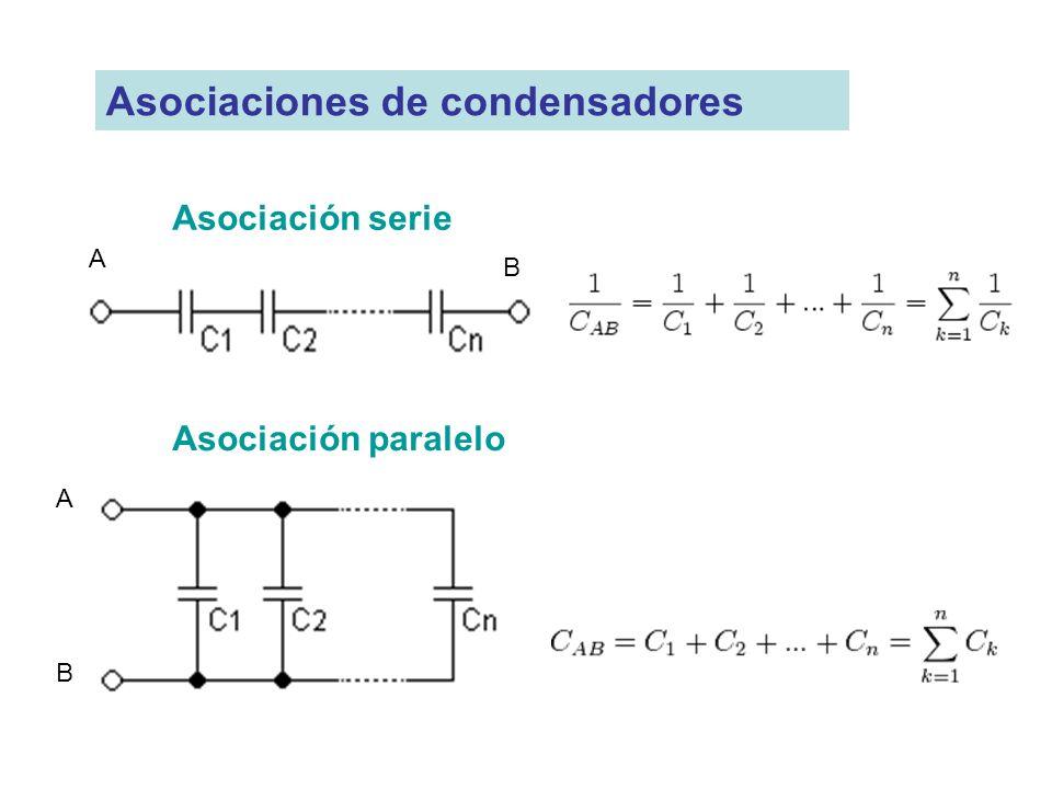 Asociaciones de condensadores