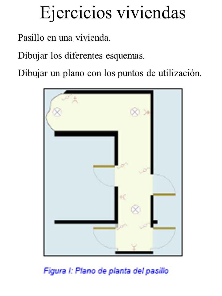 Ejercicios viviendas Pasillo en una vivienda.