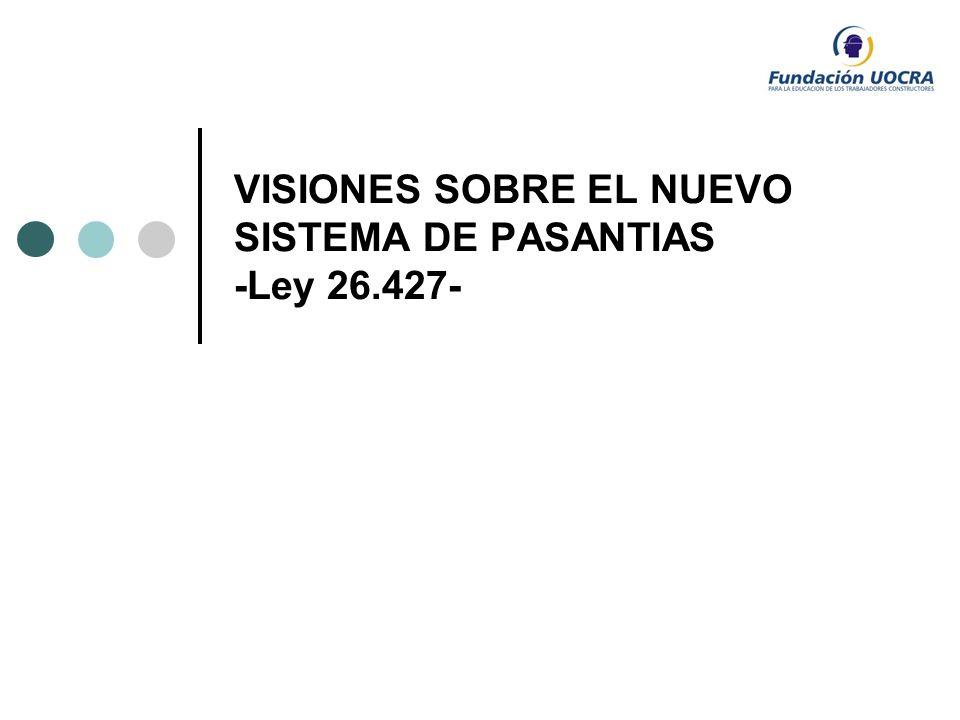 VISIONES SOBRE EL NUEVO SISTEMA DE PASANTIAS -Ley 26.427-