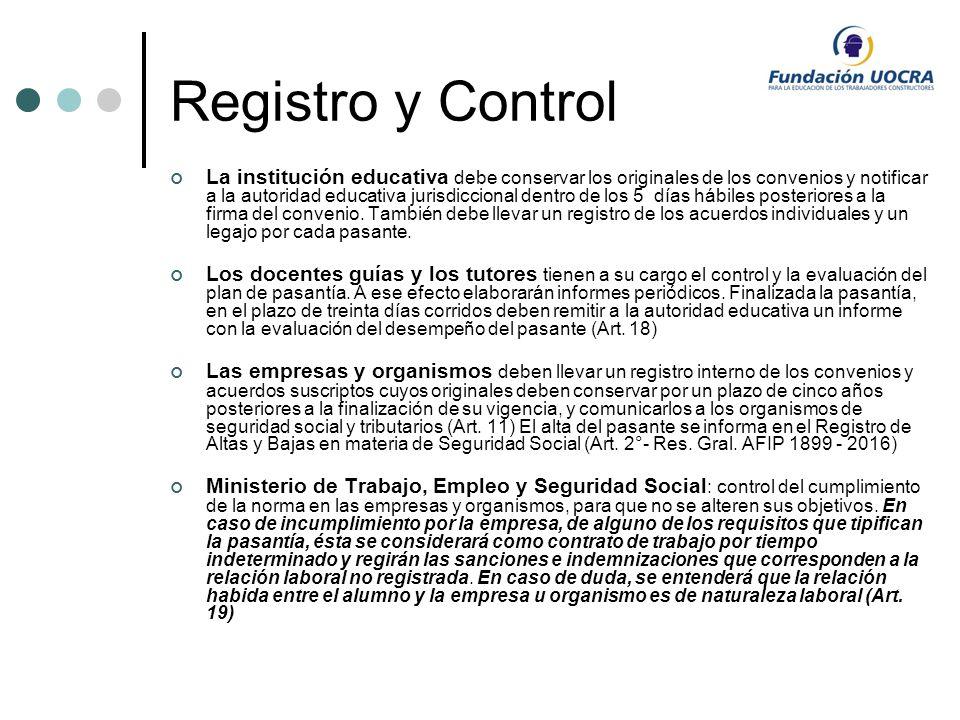 Registro y Control